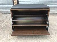 Shoe Storage Bench Seat With Two Tier Storage