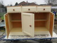 Shabby Chic Pine DUCAL Cupboard /Sideboard In Farrow & Ball Cream No 67