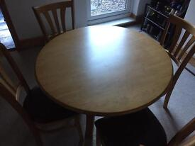 Grosvenor dining table + 4 chairs