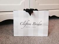 Bra cups to be sewn inside wedding dress
