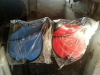 "12"" Pony Cub Saddles with new nylon leathers RED or BLUE"