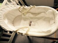 New John Lewis Moses basket and stand