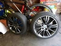 "18"" Genuine BMW MV3 alloys wheels Factory Grey 8.5j rears x3"