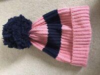 Jack Wills Striped Pom Pom Hat