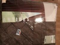 New tab top chocolate curtains - Antibes