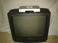 Panasonic 21 inch TV and Freeview Box