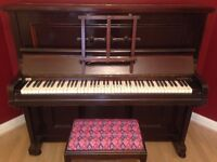 Upright Adelphi Piano and Piano Stool