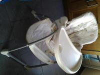 MOTHERCARE High Chair, With Tray & Bottom Basket