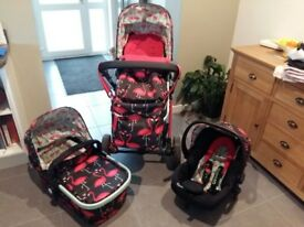 Cosatto Giggle 2 Flamingo Fling Travel System
