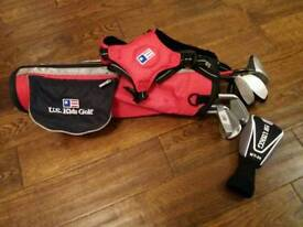 "US Kids Golf 39"" Red Carry set with 6 clubs"