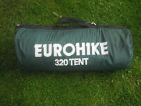 EUROHIKE 320 TENT FOR SALE