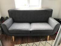 Birlea 3 seater sofa - Retro Scandinavian style sofa