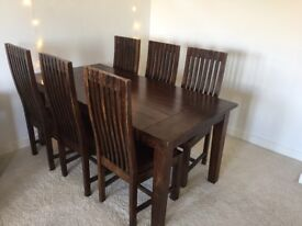 Beautiful Solid Wood Table & Chairs Set UK BUYERS ONLY