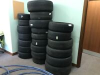 various tyres from 14ins to 18ins will sell job lot
