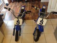 Razor MX350 electric bike x2