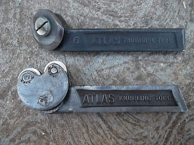 Vintage Classic Atlas Knurling Tool No. 6 Threading Tool  Metal Lathe