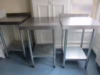 Vogue stainless steel tables