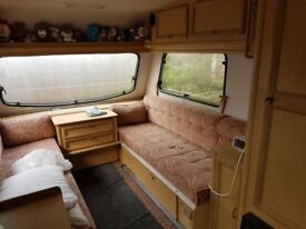 1991 omega caravan 2 berth with 2 awnings and 2 ground sheets plus many extras