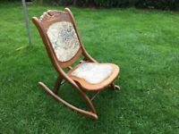 Rocking nursing chair , small and foldable