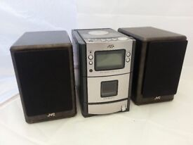 JVC UX-T100 Stereo Micro Component Hi-Fi System CD Player/FM Radio/Tape(no remote)