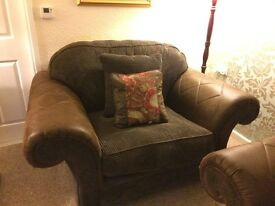Sofaworks 3 seater settee and large armchair