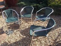 SET OF GARDEN CHAIRS - BARGAIN (We are clearing out the garage)