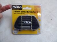 5 Piece Screw Extractor Set from Rolson Quality Tools sizes 3-19mm