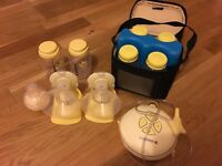 Medela Swing Maxi Double Electric Breast Pump + Cooler Box Storage
