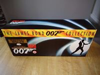 JAMES BOND VHS VIDEO LIMITED EDITION BOXSET-MOST VIDEOS ARE STILL SEALED-CERT 15 (£40 or make offer)
