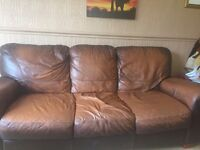 3 seater and 2 seater Italian Leather sofa.