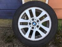 BMW WHEELS AND TYRES 16inch 205-55 Good condition. off BMW 325 06 plate £250
