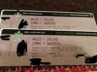2 x WALES V IRELAND 6 NATIONS TICKETS