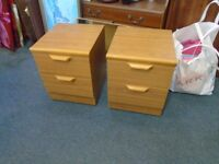 2 small bedside cabinets