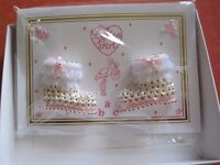 BOXED BABY GIRL CARD - LOVELY AS A GIFT OR SOUVENIR OF A SPECIAL OCCASION