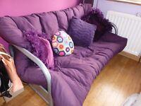 Futon Sofa Bed with Mattress- Purple Fizz (Argos - ColourMatch Mexico)