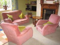 vintage 1930s style retro three piece suite