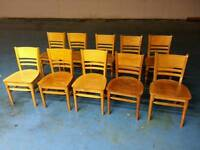 10 x solid wood chairs ( item 5 )