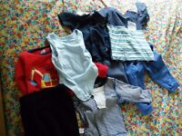 Baby boy clothes 9-12mths & 12-18mths 18-24. 3 boxes