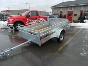 2017 N&N BIG WHEEL 4.5 X 8 Galvanized Utility Trailer Hot di