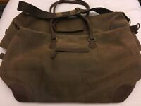 BRAND NEW John Lewis Geneva Large & Medium Weekend Holdall BROWN NEW NEW NEW !!!