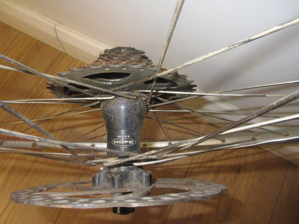 Hope Hub, 26 Inch Mountain Bike Rear Disc Brake Wheel Mavic Rim
