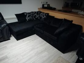 Black corner sofa for sale - immaculate condition
