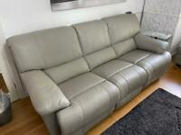 Luxury Leather 3 seater & 2 seater sofa with matching storage stool