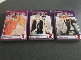Ouran High School Host Club. Vol 1,2 and 3.