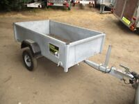 5-4 X 3-3 GALVANISED STEEL GOODS TRAILER WITH DROPTAIL......