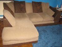 Brown corner sofa for sale