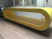 Zespoke Long Hoop TV Stand High Gloss Canary Yellow