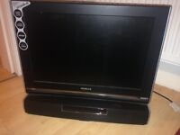 "19"" LED TV with sound bar"