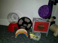 HAMSTER TOYS AND ACCESSORIES JOB LOT