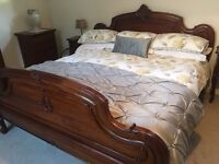 French Louis Style Mahogany Bedroom Furniture. Condition as New!!